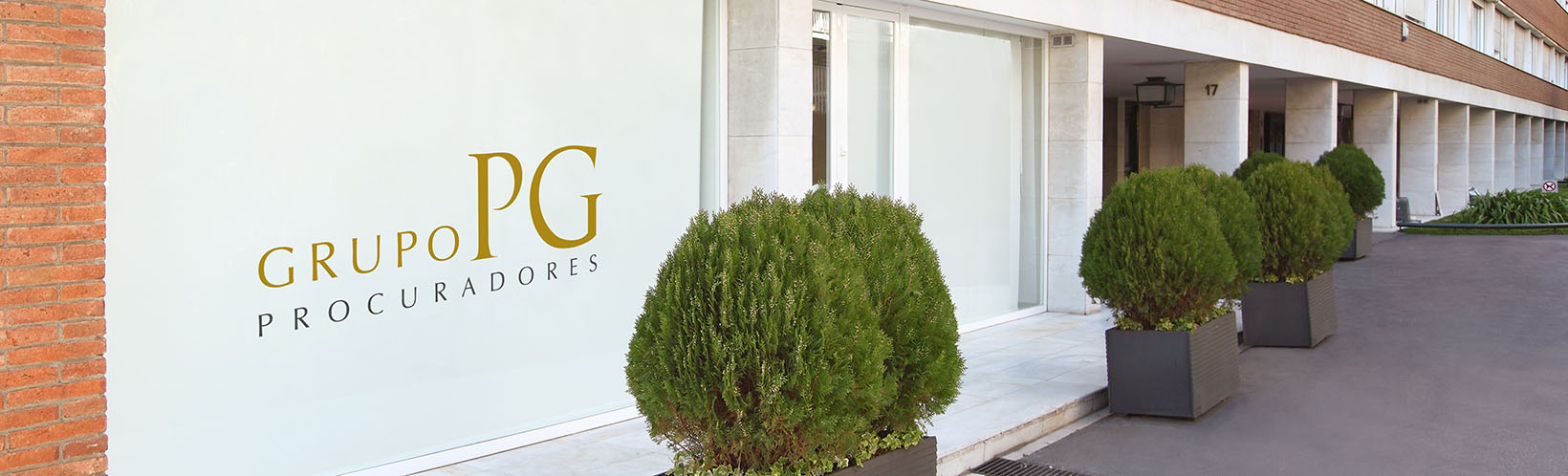Vista del exterior del despacho de procuradores del Grupo PG procuradores